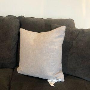 18x18 light grey throw pillow